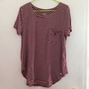 Must-Have Striped Pocket Tee